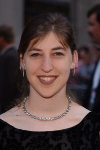 Mayim Bialik at the NBC 75th Anniversary celebration.