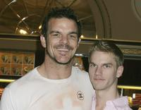 Ian Roberts and Ben Prideaux at the opening night of