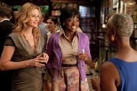 Julia Roberts as Liz Gilbert and Viola Davis as Delia Shiraz in