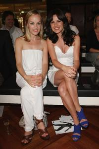 Friederike Kempter and Natalia Avelon at the Elle MacPherson Intimates Collection show.