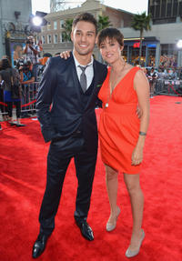 Ryan Guzman and Megan Boone at the California premiere of