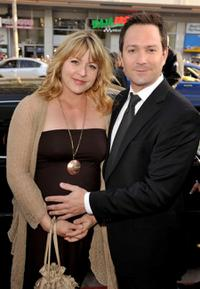Jenny Robertson and Thomas Lennon at the premiere of