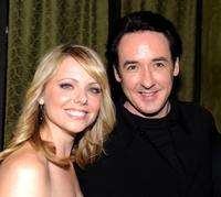 Collette Wolfe and John Cusack at the after party of the premiere of