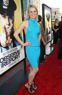 Collette Wolfe at the premiere of