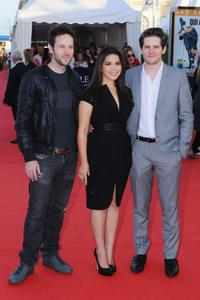 Ryan O'Nan, America Ferrera and Ryan Piers Williams at the premiere of