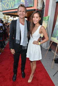 Sebastian Roche and Alicia Hannah at the California screening of