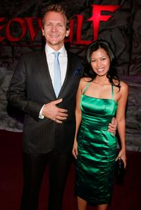 Sebastian Roche and Guest at the premiere of