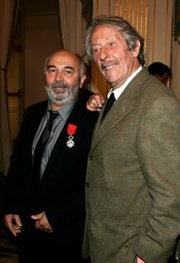Jean Rochefort and Gerard Jugnot at the Knight Of The Legion of Honor Award (Chevalier de la Legion d'honneur).