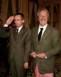 Jean Rochefort and Patrice Leconte at the Knight Of The Legion of Honor Award (Chevalier de la Legion d'honneur).