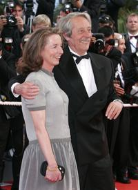 Jean Rochefort and wife Alexandra Mosava at the premiere of