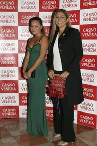 Romina Carrisi and Romina Power at the New Cinema Network party.