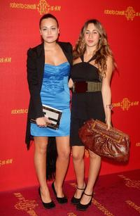 Romina Carrisi and Delfina Delettrez at the H&M collection launch party.