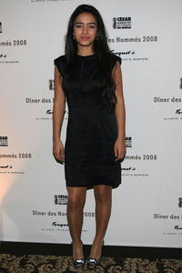 Hafsia Herzi at the Cesar Awards nominee dinner.