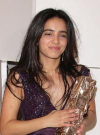 Hafsia Herzi at the Cesar Film Awards 2008.