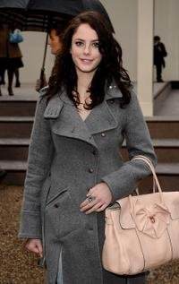 Kaya Scodelario at the Burberry Prorsum LFW Autumn/Winter 2010 Women's wear show.