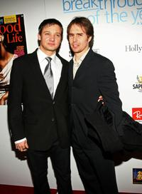 Sam Rockwell and Jeremy Renner at the Hollywood Life magazine's 6th Annual Breakthrough Awards.