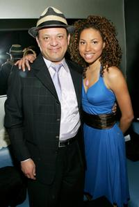 Paul Rodriguez and Jurnee Smollett at the Celebration of Artistic Freedom Academy Awards Viewing Dinner.