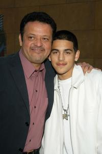 Paul Rodriguez and his son at the premiere of Sony Pictures Classic