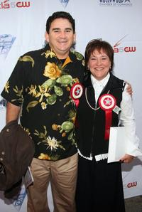 Valente Rodriguez and Belita Moreno at the 75th Annual Hollywood Christmas Parade.