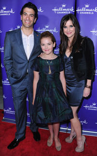 Simon Kassianides, Kiernan Shipka and Kellie Martin at the 2011 TCA Winter Tour Evening Gala in California.