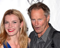 Betty Gilpin and Sam Shepard at the opening night party of