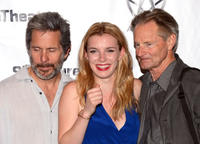 Gary Cole, Betty Gilpin and Sam Shepard at the opening night party of