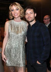 Shana Feste and Tobey Maguire at the premiere of