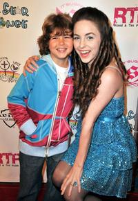 Jonathan Morgan Heit and Brittany Curran at the launch of the Lollipops and Rainbows Foundation.