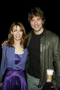 Craig Bierko and Illeana Douglas at the Cynthia Rowley Fall 2004 fashion show during Olympus Fashion Week.