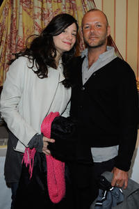 Alice Pol and Pierre-Francois Martin-Laval at the Day 1 of the Espace Glamour Chic Cesars Gift Lounge in Paris.
