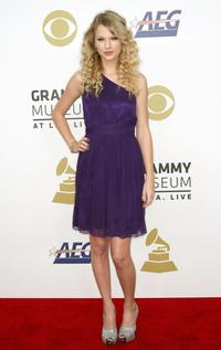 Taylor Swift at the Grammy Nominations concert live.