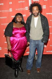 Gabourey Sidibe and Lee Daniels at the screening of