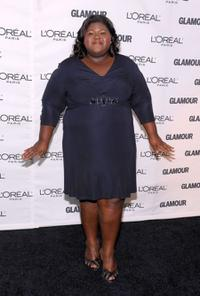 Gabourey Sidibe at the Glamour Magazine 2009 Women of the Year Honors.