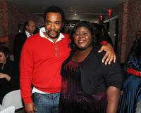 Director Lee Daniels and Gabourey Sidibe at the after party of the screening of