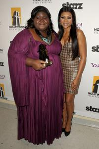 Gabourey Sidibe and Taraji P. Henson at the 13th Annual Hollywood Awards Gala Ceremony.