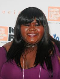 Gabourey Sidibe at the 2009 New York Film Festival's screening of