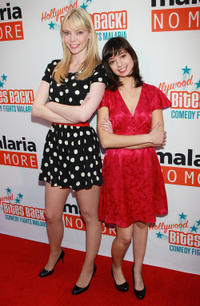 Riki Lindhome and Kate Micucci at the Malaria No More's
