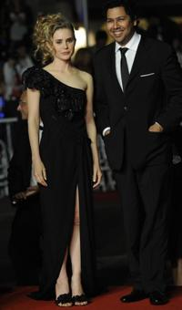 Alison Lohman and Dileep Rao at the 62nd Cannes Film Festival.