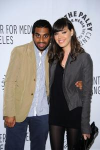 Aziz Ansari and Aubrey Plaza at the presentation of