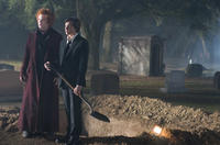 John C. Reilly as Larten Crepsley and Chris Massoglia as Darren Shan in