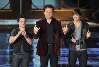 Josh Hutcherson, John C. Reilly and Chris Massoglia at the Spike TV's Scream 2009.