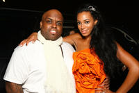 Cee Lo Green and recording artist Solange Knowles at the recording artist Solange Knowles' birthday party in California.