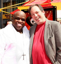 Cee Lo Green and composer Hans Zimmer at the California premiere of