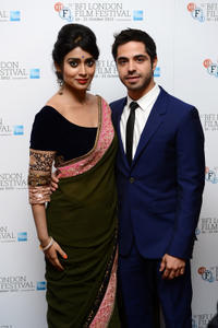 Shriya Saran and Satya Bhabha at the premiere of