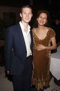 Dan Bittner and Jessica Hecht at the Lincoln Center Theater opening night celebration for