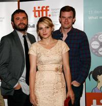 AJ Bowan, Amy Seimetz and Joe Swanberg at the premiere of