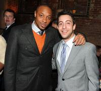 Dorian Missick and Adam Rose at the after party of the premiere of