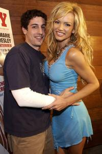 Jason Biggs and Nikki Ziering at the release party for Playboy Magazine cover.