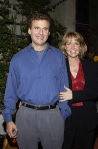 Phil Rosenthal and his wife at the party celebrating the 200th Episode of