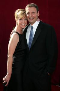 Monica Horan and Phil Rosenthal at the 57th Annual Emmy Awards.